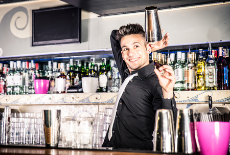 Flair bartender in action
