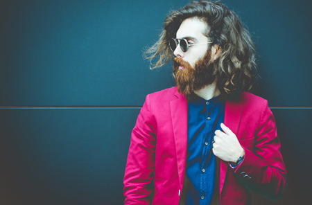 man style: Cool hipster portrait Stock Photo
