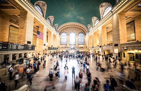 NEW YORK - USA, SEPTEMBER 17, 2016: Grand Central Terminal Station,New York. Grand Central Terminal is the worlds number six most visited tourist attraction Editorial