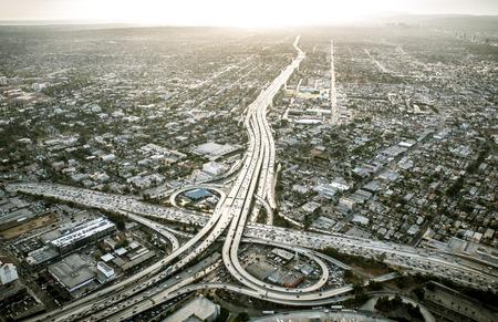 Luchtfoto van Los Angeles vanuit de helikopter