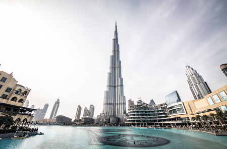 Dubai, UED. February 9th, 2017.The burj Khalifa,known as Burj Dubai , is a skyscraper in Dubai, United Arab Emirates. It is the tallest artificial structure in the world, standing at 829.8 m Editorial
