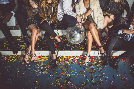 Party people celebrating in the club Stock Photo