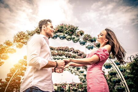 romantic date: Couple in love on a romantic date Stock Photo