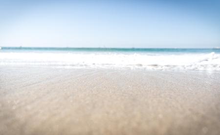 Beach blurred concept Stock Photo