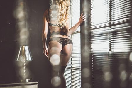 Sexy kont close-up met lingerie