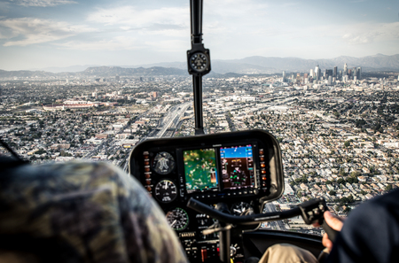 Los angeles aerial view from helicopter Stock fotó