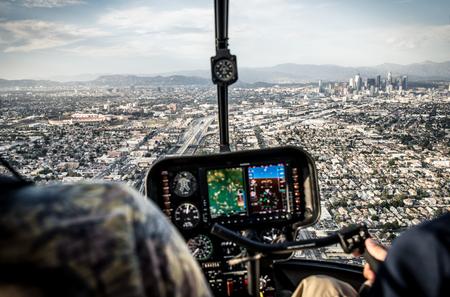 Luchtfoto van Los Angeles vanuit de helikopter Stockfoto - 75498482