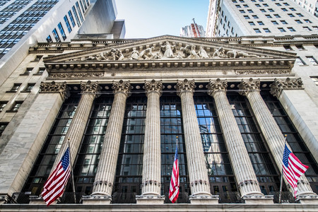 capitalization: NEW YORK CITY, NY - SEPTEMBER 17, 2016: Wall Street New York Stock Exchange is the worlds largest stock exchange by market capitalization of its listed companies.