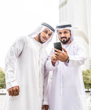 Arabic businessmen in Dubai Reklamní fotografie