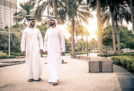 Arabic businessmen in Dubai 스톡 콘텐츠