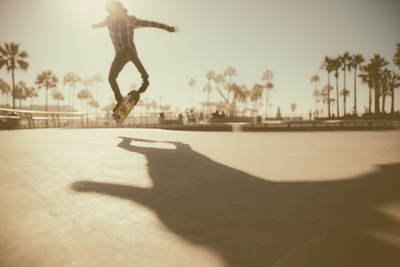 Skater in action in Los angeles Stock Photo