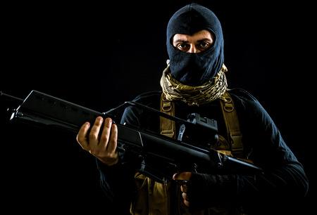 Terroristische criminele portret Stockfoto