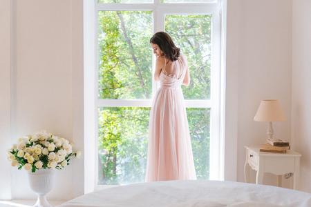 Breautiful woman in white dress