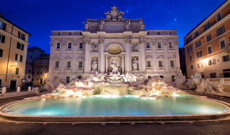 Beautiful Trevi fountain in Rome Stock Photo - 86512968