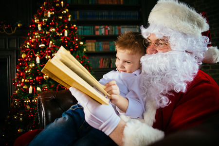 fireplace: Santa claus portraits and lifestyle