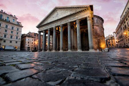 Prachtig uitzicht in Rome. Oriëntatiepuntfotografie over Italiaanse monumenten Stockfoto