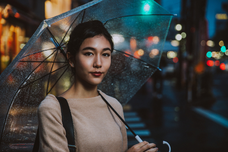 Japanese woman portrait in tokyo Stock Photo - 91239230