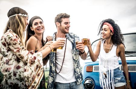Hippie vrienden plezier