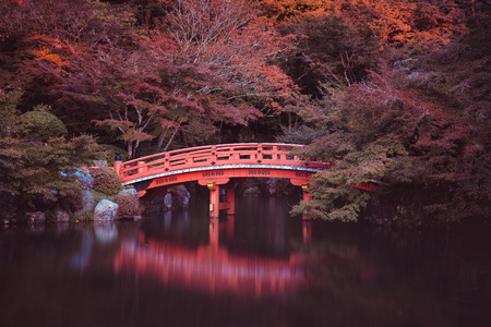 Traditional japanese bridge in Kyoto