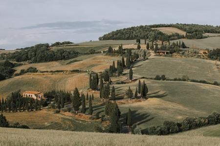 Beautiful tuscan landscape Stock Photo
