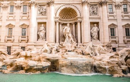De verbazingwekkende Trevi-fontein in Rome Stockfoto