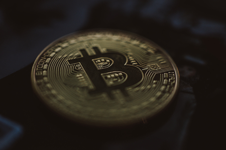 Dichte omhooggaand van het de muntmuntstuk van Bitcoin crypto