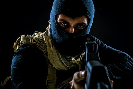 테러리스트 범죄 초상화 스톡 콘텐츠