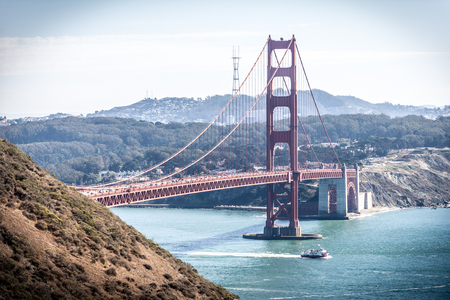 Golden gate bridge in San francisco and landscape