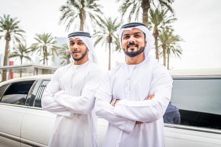 Arabic businessmen in Dubai Zdjęcie Seryjne