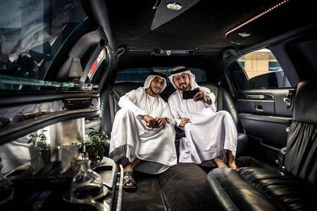 Arabic businessmen in Dubai Stock Photo