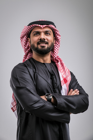 Arabic handsome man studio portraits Stok Fotoğraf - 97106840