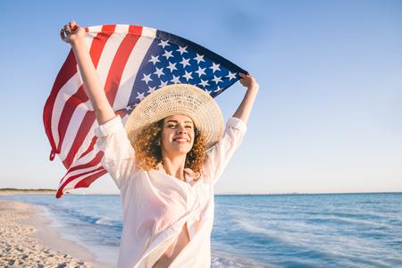 Pretty girl portrait  - Beautiful woman enjoying summer holidays on a tropical island Stock Photo