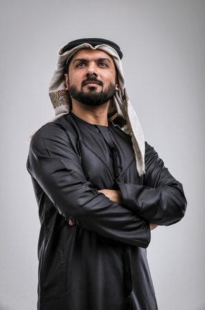 Arabic handsome man studio portraits 版權商用圖片 - 98082616