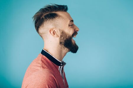 Hipster man on studio  portraits set 版權商用圖片