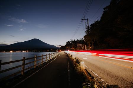 富士山の景色。日本で最も有名なマウント 写真素材