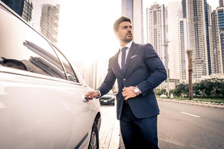 Handsome caucasian businessman - Portrait of a businessman walking outdoors Reklamní fotografie - 101183562