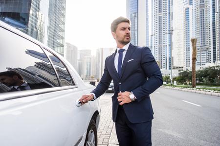 Handsome caucasian businessman - Portrait of a businessman walking outdoors Reklamní fotografie - 101183609