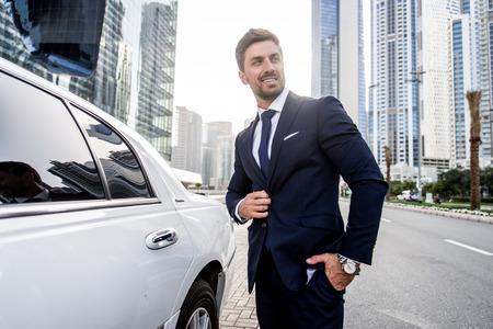 Handsome caucasian businessman - Portrait of a businessman walking outdoors Reklamní fotografie - 101187833