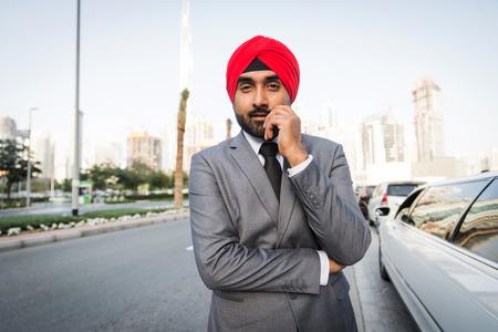 Punjabi businessman portrait outdoors - Hindi man wearing formal elegant suit Reklamní fotografie