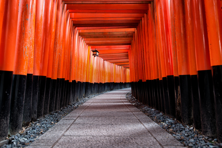 Fushimi Inari shrine in Kyoto, Japan Imagens - 101188789