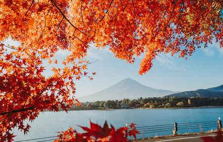 Fuji mountain view. The most famous mount in japan Standard-Bild - 101191386