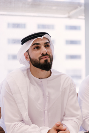 Emirati businessman looking at camera Stock Photo