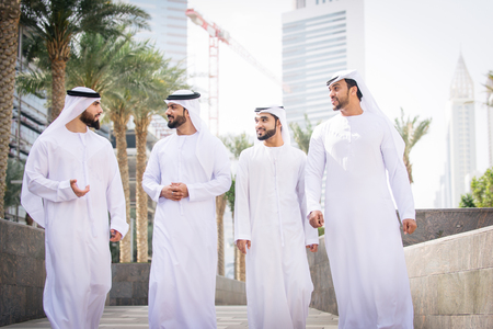 Arabian men meeting and talking about business - Businessmen portrait in Dubai Stock Photo - 102312774