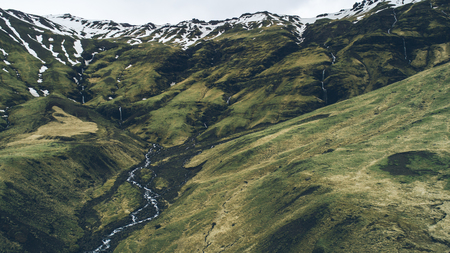 icelandic green hills and panoramas