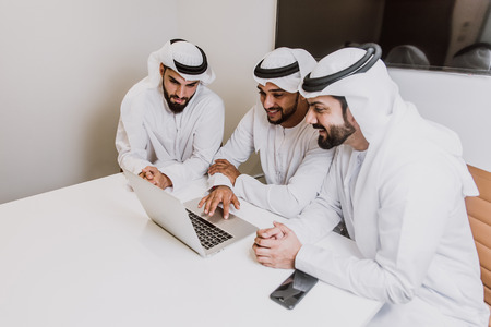 Arabic business team in the office