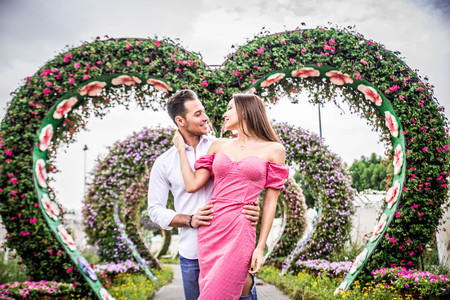 Couple in love on a romantic date Stockfoto