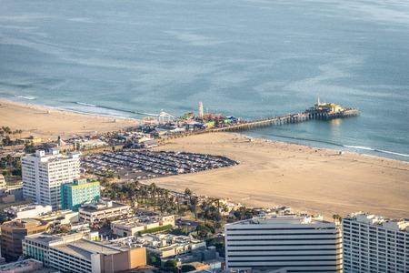 Santa Monica pier, drone view