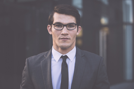 Handsome young business man portrait Stok Fotoğraf