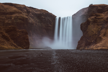 Skogafoss in his smooth beauty