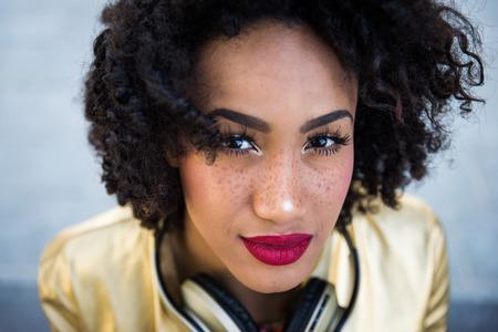 Portrait of a beautiful afroamerican young woman